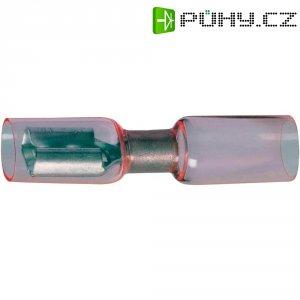Faston zásuvka se smršťovací bužírkou DSG Canusa 7934100302, 6.3 mm x 0.8 mm, červená, 1 ks