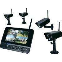 "Sada bezdrátových kamer s monitorem 7\"" dnt Quattsecure Profiset, 52201, 2,4 GHz, 4 ks"