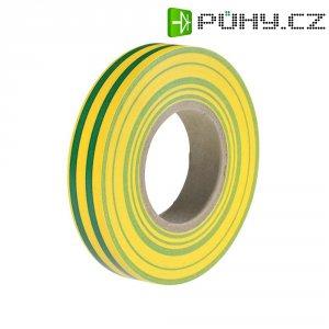 Izolační páska HellermannTyton HelaTapeFlex 15, 710-00117, 15 mm x 25 m, žlutozelená