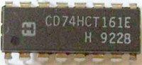 74HCT165 - 8-bit posuvný registr s nulováním, DIL16 /CD74HCT165E/