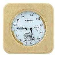 Teploměr do sauny s vlhkoměrem , 20 až 120 °C
