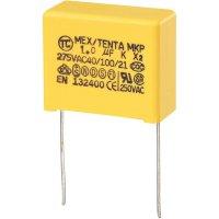 Foliový kondenzátor MKP, 1 µF, X2 275 V/AC, 10 %, 26,5 x 12,5 x 21,5 mm