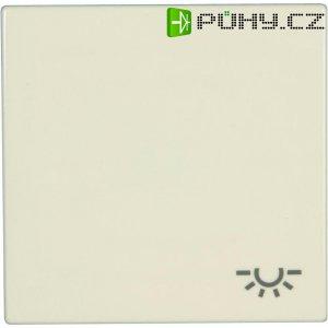 Krytka vypínače se symbolem světla Jung, LS 990 L, krémově bílá