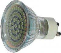 Žárovka LED GU10-60xSMD3528,bílá teplá,230/4W, DOPRODEJ