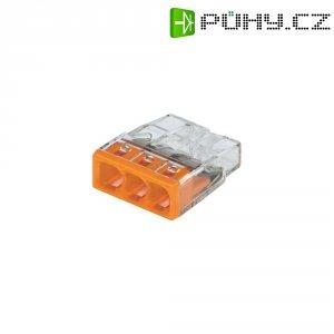Svorka Wago, 2273-203, 0,5 - 2,5 mm², 3pólová, transparentní/oranžová, 10 kusů