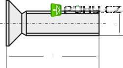 Šrouby se zápustnou hlavou TOOLCRAFT, DIN 965, M3 x 12, 100 ks