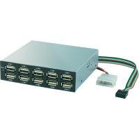 Přední zásuvný panel USB 2.0 hub, 10-portový