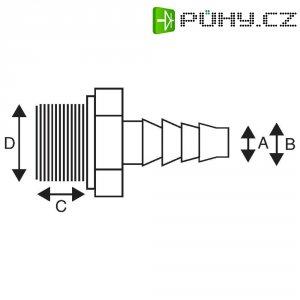Přímá spojka se závitem 13 mm x 18/19 mm