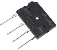 Můstkový usměrňovač IXYS GBO25-16NO1, U(RRM) 1600 V, U(FM) 1,1 V, I(F) 25 A, 4 pin