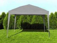 Zahradní skládací altán 3 × 3 m šedý