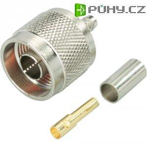 Konektor Reverse N BKL 419500, 50 Ω, zástrčka rovná