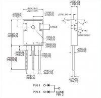 MBR40100 dioda schottky dvojitá 100V/2x20A/ TO247AD