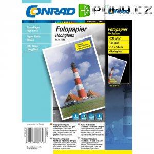 Conrad fotopapír 10X15, 240g,listo lesk