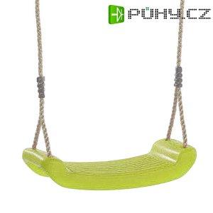 Houpačka dětská plastová, limetka sedák, lano