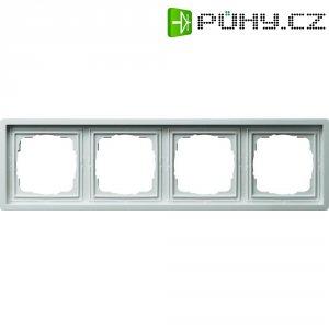 Rámeček plochého spínače 4dílný Gira, standard 55, čistá bílá (0214112)