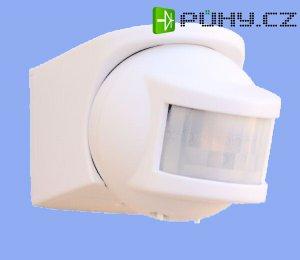 Miniaturní pohybový spínač s detekčním úhlem 210° (bílá barva)