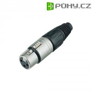 XLR kabelová zásuvka Neutrik NC3FX, rovná, 3pól., 3,5 - 8 mm, stříbrná