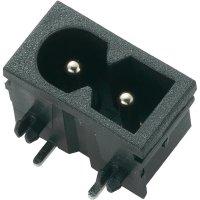 Vestavná síťová IEC zástrčka C8P, 250 V, 2,5 A, horizontální montáž