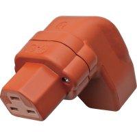 Úhlová síťová IEC zásuvka C21 Kalthoff 444Si/Wi, 250 V, 16 A, červená, 444003
