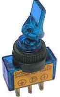 Vypínač páčkový ON-OFF 1pol.12V/20A modré prosv.