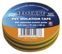Izolační páska PVC 19/20m zelenožlutá