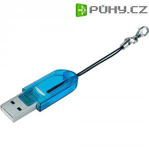 Čtečka karet mikroSD modrá, USB 2.0