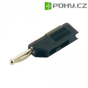 Bezpečnostní konektor SKS Hirsch. VSB 20 (930435100), zástrčka rovná, 2,5 mm², černá