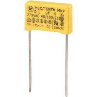 Foliový kondenzátor MKP, 0,1 µF, X2 275 V/AC, 10 %, 18 x 5 x 11 mm