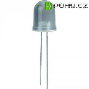 LED dioda kulatá s vývody, 20 mA, 10 mm, 3,6 V, 25 °, 1200 mcd, bílá, WU-2-106WD
