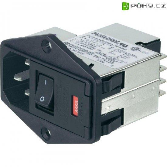 Síťový filtr TE Connectivity, PE0SXDS6B=C1228, 250 V/AC, 6 A - Kliknutím na obrázek zavřete