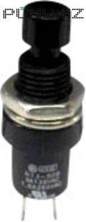 Tlačítko SCI, R13-509B-05BK, 250 V/AC, 1,5 A, zap./(vyp.), černá