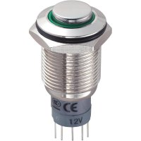 Tlačítkový spínač antivandal TRU Components LAS2GQH-11ZE/G/12V/N/P, 250 V/AC, 3 A, 1 ks