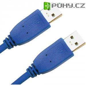 Kabel USB 3.0 A/A 0,5 m modrý