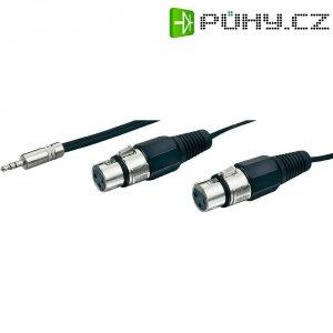 Dvojitý kabel 1x stereo jack (M) 3,5 mm / 2x XLR (F), 3 m