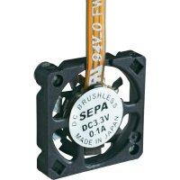 Mikro ventilátor SEPA MF_10A03A-ST, 10 x 10 x 2 mm, 3,3 V/DC