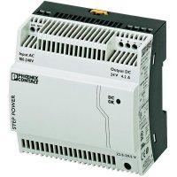 Zdroj na DIN lištu Phoenix Contact STEP-PS/1AC/24DC/4.2, 24 V/DC, 4,2 A
