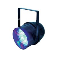 LED DMX reflektor Eurolite PAR 56 Spot Multi-Color, 36x 1 W, černá
