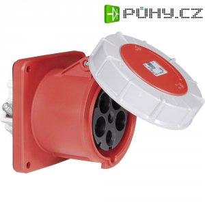 CEE zásuvka Twist 345-6 PCE, rovná, 125 A, IP67, červená/šedá