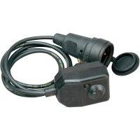 Bezpečnostní kabel Kopp PRCD-3P, 1,6 m, IP44, černá