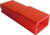 Krytka izolační na faston 6,3mm STOCKO EH681 červená