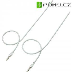 Připojovací kabel SpeaKa, jack zástr. 3.5 mm/jack zástr. 3.5 mm, bílý, 0,5 m