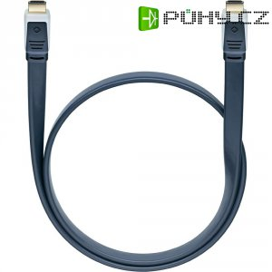 Oehlbach High Speed HDMI plochý kabel s Ethernetem, Flat Magic, 0,75 m