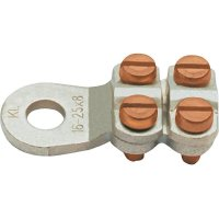Kulaté kabelové oko Klauke 584R8 584R8, průřez 25 mm², průměr otvoru 8.5 mm, bez izolace, kov, 1 ks