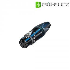 XLR kabelová zásuvka Neutrik NC3FXX, rovná, 3pól., černá