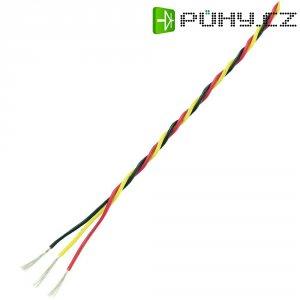 Servo kabel kroucený Modelcraft, 5 m, 3 x 0.3 mm², červená/černá/žlutá
