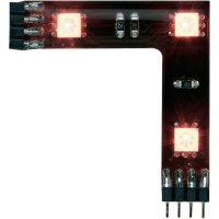 Úhlový LED propojovací pásek Paulmann YourLED, sada 3 ks, 3x 0,72 W, černá (70207)