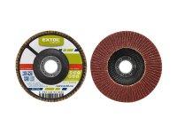 Kotouč lamelový šikmý korundový, P120, 125mm, KORUND, EXTOL CRAFT 260032