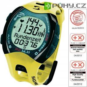 Hodinky s měřením pulzu sporttester Sigma 14.11, žlutá