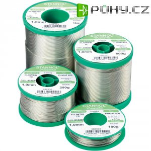 Cínová pájka PBF, Sn99Cu1, Ø 1 mm, 250 g, Stannol Flowtin TC
