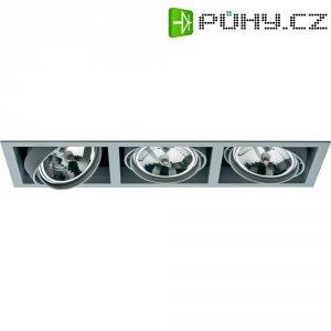 Vestavné svítidlo Sygonix Ancona AR111, 3x 100 W, G53, stříbrná/šedá